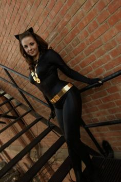 Here's a homemade Catwoman costume.