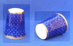 Royal Worcester Thimble Blue Scale | eBay