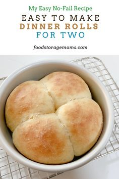 Cooking For One, Batch Cooking, Mug Recipes, Baking Recipes, Bread Recipes, Recipies, Small Meals, Meals For One, Dinner Rolls Recipe