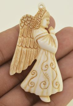 Don't forget take look this item new design bead pendant from water buffalo bone using antique color by artist painted.