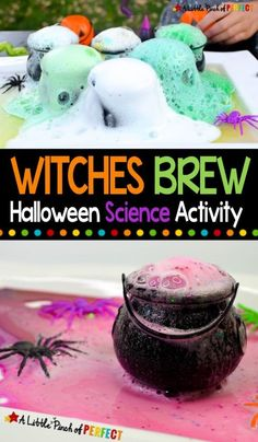 Kids will have fun during this Halloween themed science experiment using Baking Soda and Vinegar. #scienceexperiment #homeschool #kidsactivity Halloween Science, Halloween Toys, Halloween Projects, Halloween Themes, Craft Activities For Kids, Crafts For Kids, 5 Little Pumpkins, Liquid Food Coloring, At Home Science Experiments
