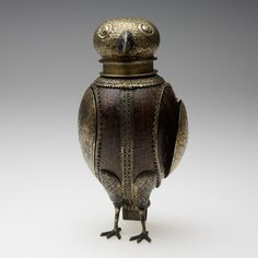 Owl Beaker, German, 1556, Coconut shell, with gilt-silver mountings, 22.9 cm | RISD Museum