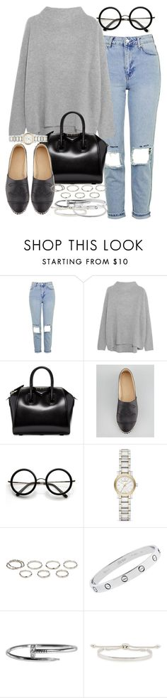 """""""Sin título #4108"""" by hellomissapple on Polyvore featuring moda, Topshop, Vince, Givenchy, Chanel, ZeroUV, Burberry, Akira, Cartier y Monica Vinader"""