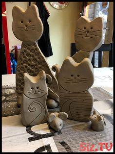 Good Pic air dry clay pottery Tips Keramische Katze – # kindergartenlessonart, Ceramic Clay, Ceramic Pottery, Pottery Art, Clay Art Projects, Ceramics Projects, Ceramics Ideas, Pottery Animals, Ceramic Animals, Sculptures Céramiques