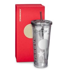A 24-fl oz clear plastic Cold Cup with a silver design that will have you seeing stars. Part of our Dot Collection.