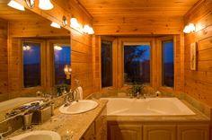 Sanctuary  | Cabin Rentals of Georgia -  Master King Suite Bathroom - Main Level