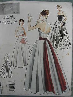 0845581548dc  Markdown  VOGUE VINTAGE 50 s GOWN SEWING PATTERN 2239 Size 14