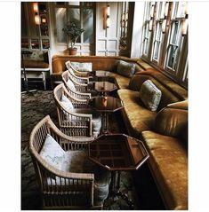 New exterior cafe seating interiors 27 Ideas Lounge Design, Lounge Bar, Pub Design, Bar Interior Design, Restaurant Interior Design, Commercial Interior Design, Commercial Interiors, Deco Restaurant, Luxury Restaurant