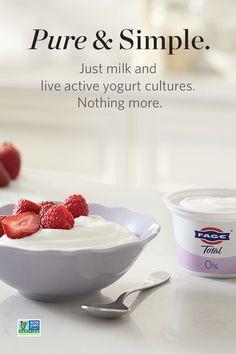 FAGE Total is a rich, creamy all-natural plain Greek yogurt made simply with milk and live active yogurt cultures in three milkfat varieties. Cherry Recipes, New Recipes, Soup Recipes, No Bake Desserts, Dessert Recipes, Keto Donuts, Homemade Yogurt, Plain Greek Yogurt, Gluten Free