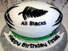 rugby ball - birthday cake