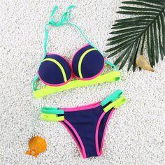 422ddc6d21 Neon Lights Two Piece Swimwear Brasilianischer Bikini