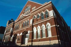 The Ryman Auditorium, Nashville.