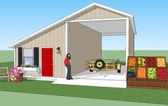 Bradley Mighty Steel RV Garage for sale, RV Shelter pricing Rv Garage Plans, Shed Plans, Garage Ideas, House Plans, Metal Building Homes, Building A Shed, Rv Shelter, Shelters, Generator Shed