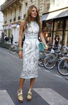 Anna Dello Russo, carrying Balenciaga. Street style celebrity bag style.