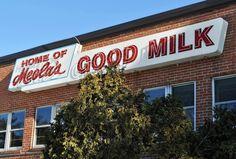 Meola's Mount Wachusett Dairy Neon Sign - West Boylston, Massachusetts