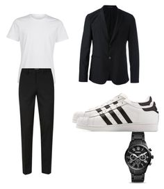 """""""Sans titre #47"""" by valentinecrabol on Polyvore featuring mode, Topman, Emporio Armani, adidas et FOSSIL"""