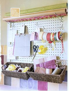 Pegboard Gift Wrapping Station Creative Home Spring 2006 1