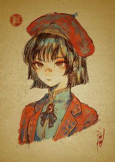 Dark Art Illustrations, Illustration Sketches, Art Sketches, Art Drawings, Character Illustration, Girls Anime, Anime Art Girl, Manga Art, Character Art