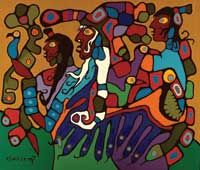 Shaman-and-Disciples-Norval-Morrisseau