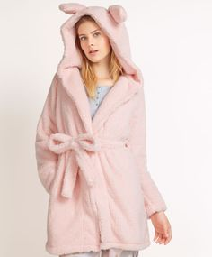 Bunny dressing gown, null£ - null - Find more trends in women fashion at Oysho . Girl Fashion, Fashion Dresses, Womens Fashion, Lingerie, Pijamas Women, Cute Sleepwear, Pajama Outfits, Peignoir, Cute Girl Outfits