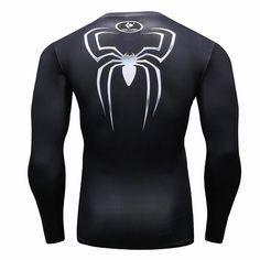 da0d94efd Nuevo 2016 Moda Hombre Camiseta Marvel Superhero Spiderman T Shirt Hombres  Gimnasio tee Camisa De Compresión Medias en Camisetas de Ropa y accesorios  en ...