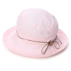 Siggi Ladies UV 50 Protection Cotton Linen Foldable Bucket Sun Hats Wide Brim Sunhat w/ Chin Cord Summer Pink. For product & price info go to:  https://all4hiking.com/products/siggi-ladies-uv-50-protection-cotton-linen-foldable-bucket-sun-hats-wide-brim-sunhat-w-chin-cord-summer-pink/