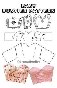 Corset Sewing Pattern, Dress Sewing Patterns, Clothing Patterns, Diy Clothing, Sewing Clothes, Custom Clothes, Fashion Sewing, Diy Fashion, Sewing Tutorials