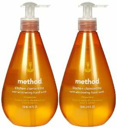 Method Odor Eliminating Hand Wash Kitchen Clementine -- 18 fl oz by Method. $9.99. Method. Our odor-eliminating kitchen hand wash gets rid of stubborn food odors, like garlic and onions, keeping chefs happy and hands smelling yummy. Method odor eliminating kitchen hand wash. Contains odor elinimating technology that helps eliminate stubborn food smells from hands. No dirty ingredients including parabens, phthalates, triclosan, edta or animal-by products. Premium ...