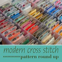 Modern Cross Stitch Pattern Round Up. #cross_stitch #patterns