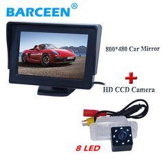 "4.3"" car display monitor use for universal car+waterproof car reversing camera for FORD-Focus Hatchback/ Mondeo Fiesta"