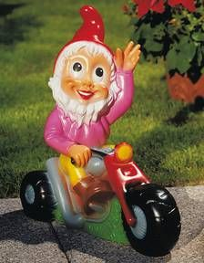 Garden Gnome on motorcycle- it doesn't help this one look cool, lol.