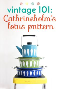Tons of information about the cathrineholms lotus pattern // Vintage collection