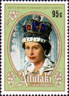 1986 Aitutaki Queen Elizabeth 60th Birthday Set Fine Mint SG 542 Scott 392 Other South Pacific and British Commonwealth Stamps HERE!