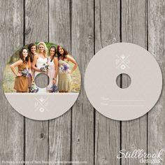CD Label Template - Wedding Photography DVD Labels - Kraft Photo CD Design - CL02