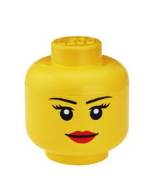 LEGO Storage Head Large, Girl, Yellow - Lidded Home Storage Box Found at TJMaxx for 19.99. Now I just have to figure out how to make Wild Style's hair