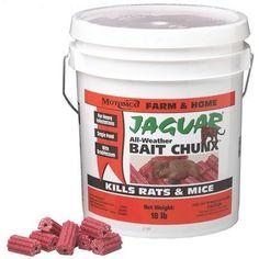Motomco Ltd D-Jaguar All-weather Bait Chunx Rat And Mouse Killer 20 Gm- 18 Pound Best Mouse Bait, Garden Pests, Garden Tools, Crappie Bait, Mouse Traps, Pest Control, Rats, Jaguar, Amazon