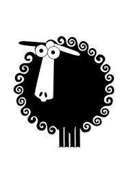Sheep Logo, Sheep Art, Cute Stickers, Black Sheep, Animals Images, Sheep Illustration, Art Wall Kids, Small Quilts, Wooly Jumper