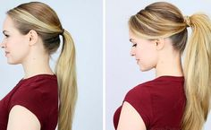 In 4 minutes the most beautiful ponytail you ever tied .- In 4 Minuten zum schönsten Pferdeschwanz, den du je gebunden hast In 4 minutes the most beautiful ponytail you have ever tied - Pony Hairstyles, Pretty Hairstyles, Bad Hair, Hair Day, Perfect Ponytail, Full Ponytail, Unwanted Hair, Professional Hairstyles, Your Hair