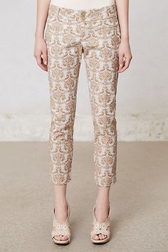 Brocade pants from Anthropologie