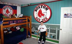 Red Sox Bedroom Room On Pinterest New England Patriots