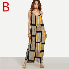 Weljuber Long Maxi Dress Boho Vestidos Summer Strap Dress Beach Wear Strap Deep V Neck Sleeveless Dresses
