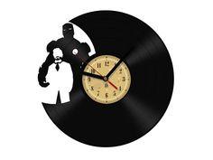 Lp vinyl schallplatten wanduhr kiss retro design vinyl for Kuchenuhren wanduhren