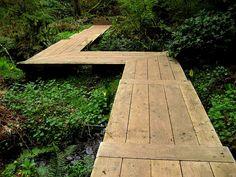 nice wooden walkway