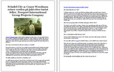Svindel City 2: Conor Woodman reiser verden på jakt etter turist feller, Newport International Group Projects Company