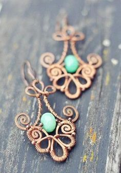 cool wire wrap earrings by Archana R