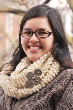 Woolly Rustic Knit Infinity Scarf, Kiku Corner 6 The Ultimate Pinterest Party, Week 86