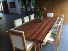 Wooden Dining Table Modern, Wood Slab Table, Dining Table Design, Dining Room Table, Live Edge Furniture, Dining Furniture, Mexican Furniture, Best Dining, Home Decor