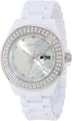 Ed Hardy Women's JO-RS Jolie White Watch -
