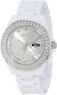 Ed Hardy Women's JO-RS Jolie White Watch -