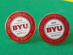 BYU Hawaii Cufflinks by LoudCufflinks on Etsy, $27.00
